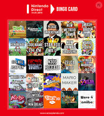 Nintendo Direct Bingo Cards - Jan 2015 - Album on Imgur via Relatably.com