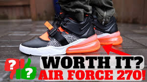 After Wearing: <b>NIKE AIR FORCE 270</b> Worth Buying? - YouTube