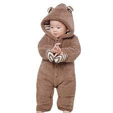 Newborn Infant Baby Boy Girl Fleece Snowsuits ... - Amazon.com