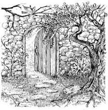 Image result for the secret garden black and white images