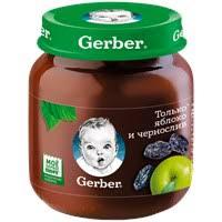 Детское питание <b>пюре GERBER фруктовое</b> Яблоко и чернослив ...