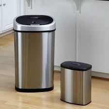 trash cans default: itouchless itrx trashcan rx stainless steel  gal trash can kitchen trash cans at hayneedle