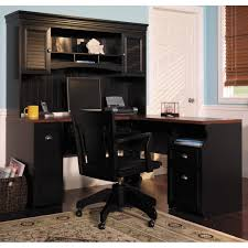 home office desk with hutch painted black color drawer and chairs for small spaces white light artistic luxury home office furniture home