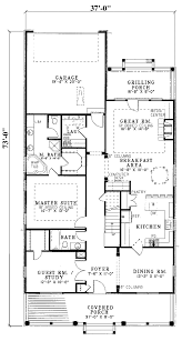 Hawk Hill Narrow Lot Home Plan D    House Plans and More