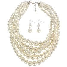 <b>DiLiCa Elegant Women's</b> Imitation Pearl Jewelry Sets Fashion ...
