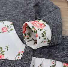 <b>Oklady Baby Girls</b> Long Sleeve Flowers Hoodie Tops and Pants ...