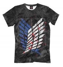 Мужские футболки Attack on Titan - купить в интернет магазине ...