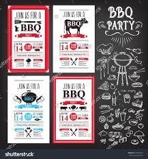 barbecue party invitation bbq template menu stock vector  barbecue party invitation bbq template menu design food flyer