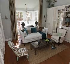 decorating on a budget living room shabby chic design with white walls and ceilings and chic living room leather