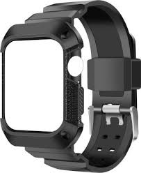 AirCase Rugged Protective <b>Case</b> with <b>Strap</b> for Apple Watch Series ...