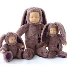 Baby doll kids toy gift <b>sleeping</b> bear rabbit <b>girl</b> boy soft birthday <b>28cm</b> ...
