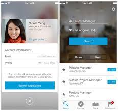 handige sollicitatie apps pagina van be linkedin job search app
