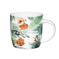 <b>Чашка</b> для чая фарфоровая Kitchen Craft <b>Palm Leaf 425</b> мл ...