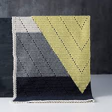 Amazing Crocheted Blanket So Cool And Modern Modern Geometric Crochet Could