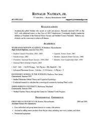 sample college student resume for summer internship   example good    sample college student resume for summer internship