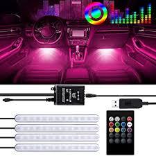<b>Car</b> LED Strip Light, 4pcs 48LED DC 12V LED <b>Car Interior</b> Lights ...