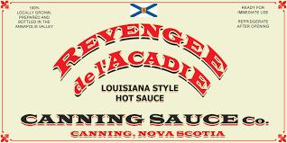 <b>Revenge</b> de l'Acadie   Canning Sauce Company