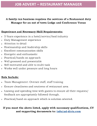 jobs archives page 2 of 23 ad dicts in your face advertising 06 03 2017 job advert restaurant manager