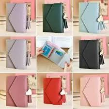 <b>Korean Women's</b> Leather Wallet Short Card Holder Leather <b>Folding</b> ...