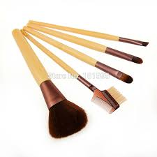 beauty basics 5pcs pack eco friendly bamboo handle makeup brush sets basic foundation tools