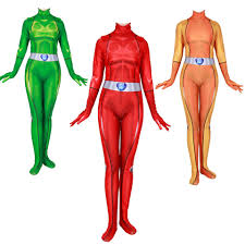 Totally Spies Cosplay Costume Digital <b>Printing</b> Zentai Jumpsuits ...
