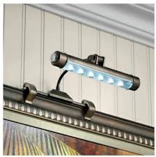 cordless art lighting fixtures. cordless led picture light for art or photos 3 color choices lighting fixtures