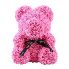 <b>24cm</b> Artificial Flowers Rose Bear Multicolor Foam Rose <b>Teddy Bear</b> ...