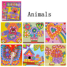 <b>EVA mosaic</b> stickers Art puzzles Animals/Vehicles/Cars DIY ...