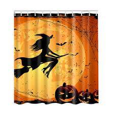 Shower Curtains Fashion Custom <b>Halloween Pumpkin Tree</b> ...