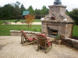 outdoor fireplace paver patio: outdoor deck or patio firehouse fire pit fireplace with chimney fp