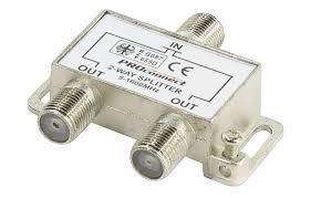 05-6021 ДЕЛИТЕЛЬ ТВ х 2 под <b>F разъём</b> 5-1000 МГц ...