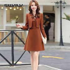 Knee-Length <b>SWYIVY Womens</b> Dress Suit Wool <b>Jacket Coat</b> Winter ...