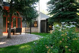 metal building homes patio contemporary with atomic ranch birch tree building home office