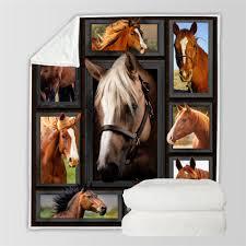 <b>SOFTBATFY</b> Cow and Horse Fleece Throw Blanket Sofa Bedding ...