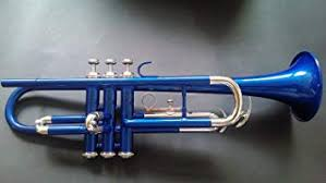 Trumpet Brand New <b>Colored</b> Blue Bb With <b>Free</b> Bag+<b>Mouth</b> piece