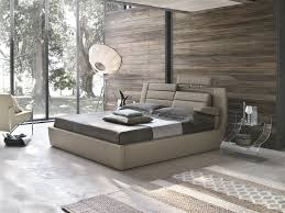 modern bedroom concepts: view in gallery bedroom with recycled wood wall armrest lumbar support