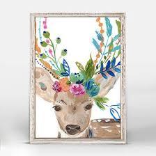 <b>BOHO Deer</b> Mini Framed Canvas 5x7 - trendva