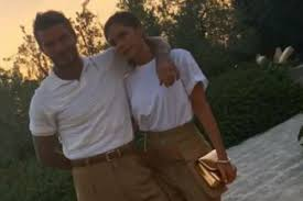 David and Victoria Beckham twin in <b>matching outfits</b> as they enjoy ...