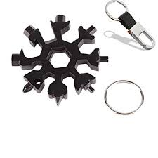 18-in-1 Snowflake Multi-tool, Stainless Combination <b>Compact</b> ...