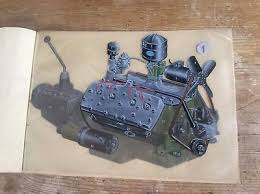 flathead ford zeppy io rare 40s transart catalogue model a b ford v8 flathead engine 16 exploded views