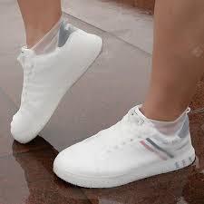 Fashion <b>Non</b>-<b>slip Thicken</b> Silicone Shoe Cover Outdoor Rain-proof ...
