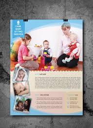babysitting daycare flyer template by elitely graphicriver babysitting daycare flyer template