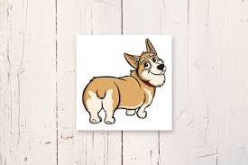 Funny <b>Cute Corgi</b> Pet Lover Dog Butt Vinyl Wall Decal Decor High ...