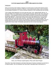 """JACK"" by <b>Brian Wilson</b> - Garden Railway Club"