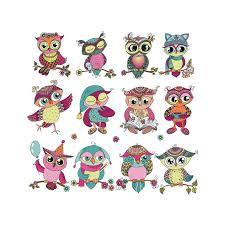 12pcs/lot <b>Iron</b>-on Patches <b>Cute Cartoon Owls</b> Patch DIY Accessory ...