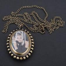 Antique Hepburn Pattern <b>Oval</b> Pandent <b>Bronze</b> Quartz <b>Pocket watch</b> ...
