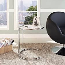Eileen Gray <b>Chrome Stainless Steel</b> End Table | Contemporary ...