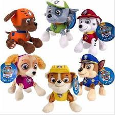 "<b>6pcs Paw Patrol</b> Plush <b>Pup</b> Pals 8"" Skye Soft Plush Toy <b>Dog</b>"