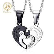 Wholesale <b>Zhijia Jewelry</b> 316L Stainless Steel Two Half Heart ...