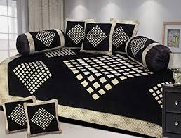 Akshya Latest <b>design 8 Piece</b> Chenille Diwan <b>Set</b>, Premium Quality ...